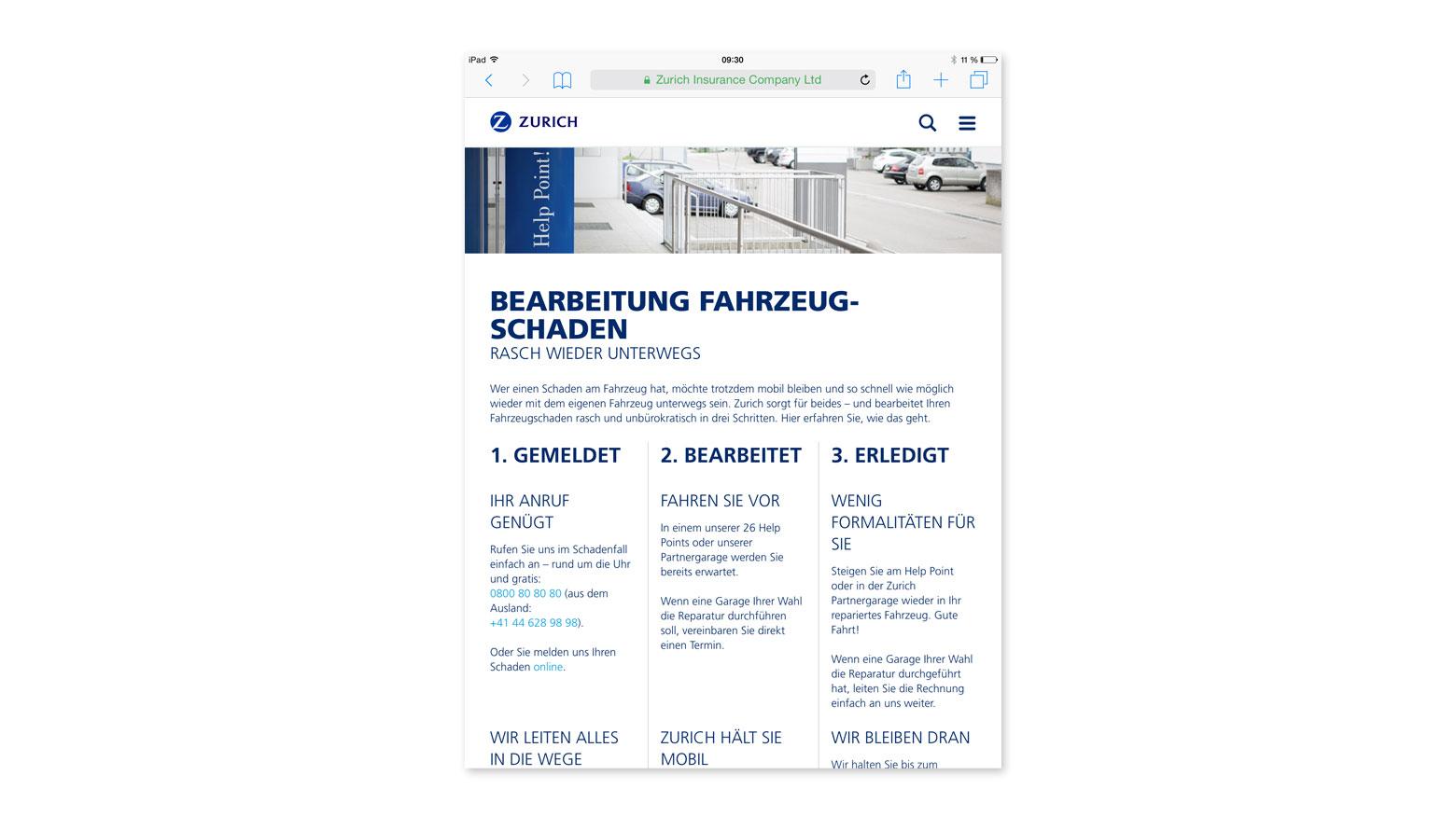 Webtext zurich.ch